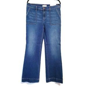 LOFT Blue Denim Jean Wide Leg Trouser 10